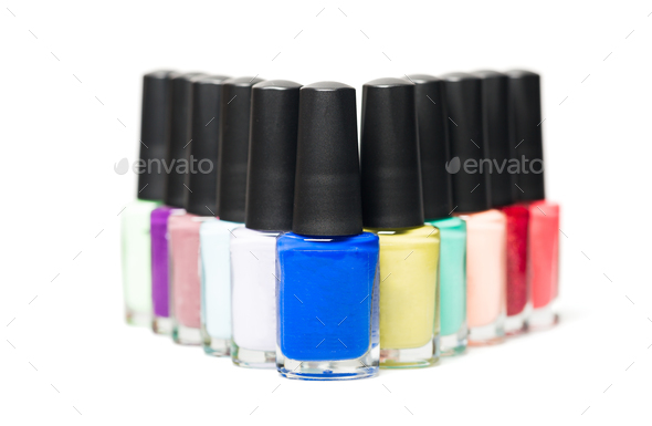 Bottles with  nail Polish - Stock Photo - Images