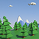 Low Poly Cartoon Forest - VideoHive Item for Sale