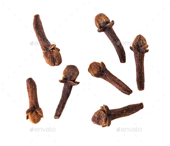 Close-up of sveral seeds Clove. - Stock Photo - Images