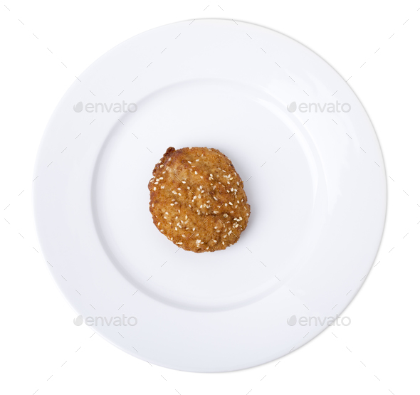 Cutlet on plate - Stock Photo - Images