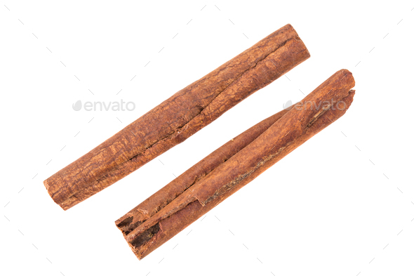 Couple sticks of Cinnamon. - Stock Photo - Images