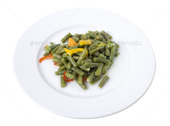 Cooked green beans. - Stock Photo - Images
