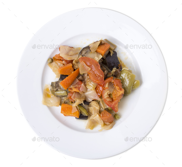 Vegetable ragout. - Stock Photo - Images