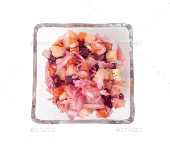Russian beetroot salad. - Stock Photo - Images