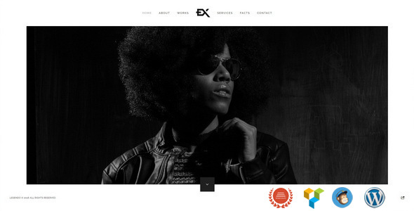 Legendo – One Page Portfolio WordPress Theme