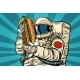 Astronaut with a Hot Dog
