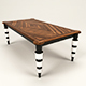 Fishbone table - 3DOcean Item for Sale