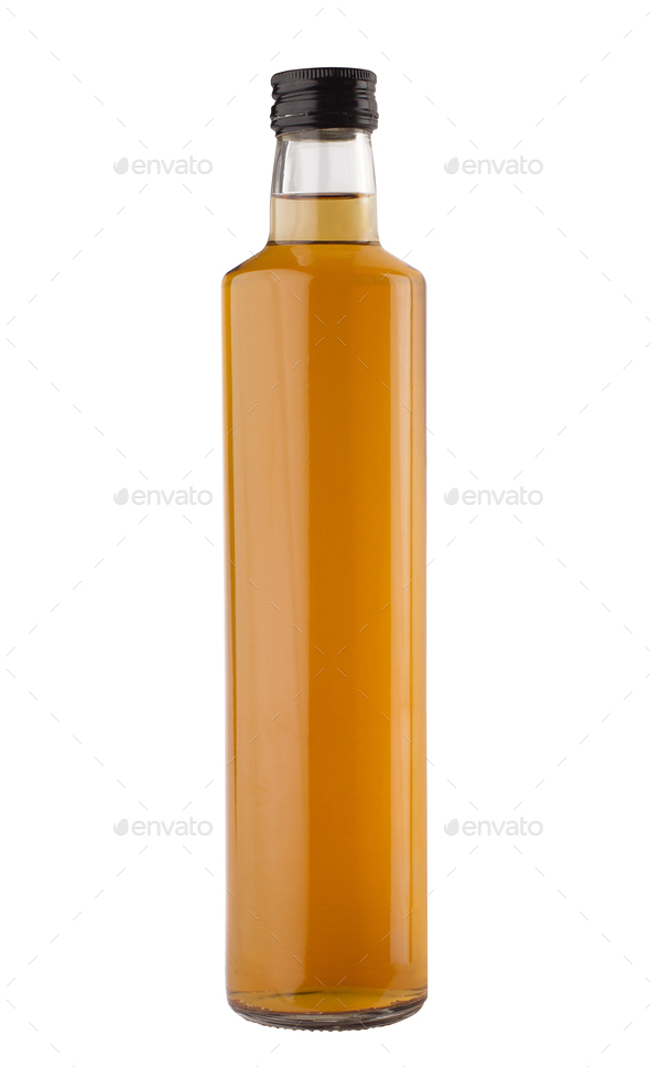 oil or vinegar bottle isolated on white background - Stock Photo - Images
