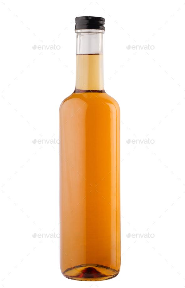 oil or vinegar bottle isolated on white background - Stock Photo - Images