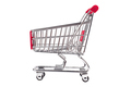 small aluminum shopping cart on white background - PhotoDune Item for Sale