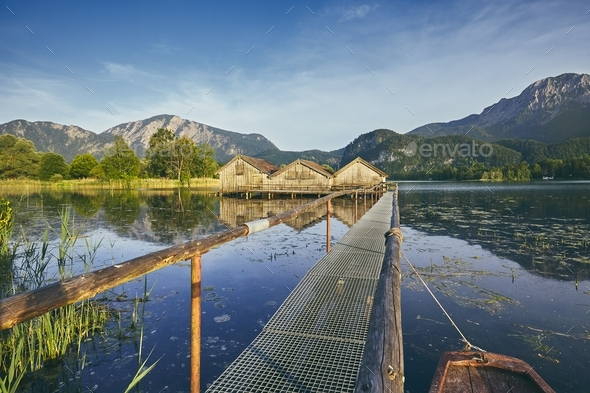 Lake Kochelsee in Germany - Stock Photo - Images