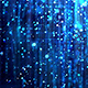Dark Blue Glossy Rain Background with Glitter Particles - VideoHive Item for Sale