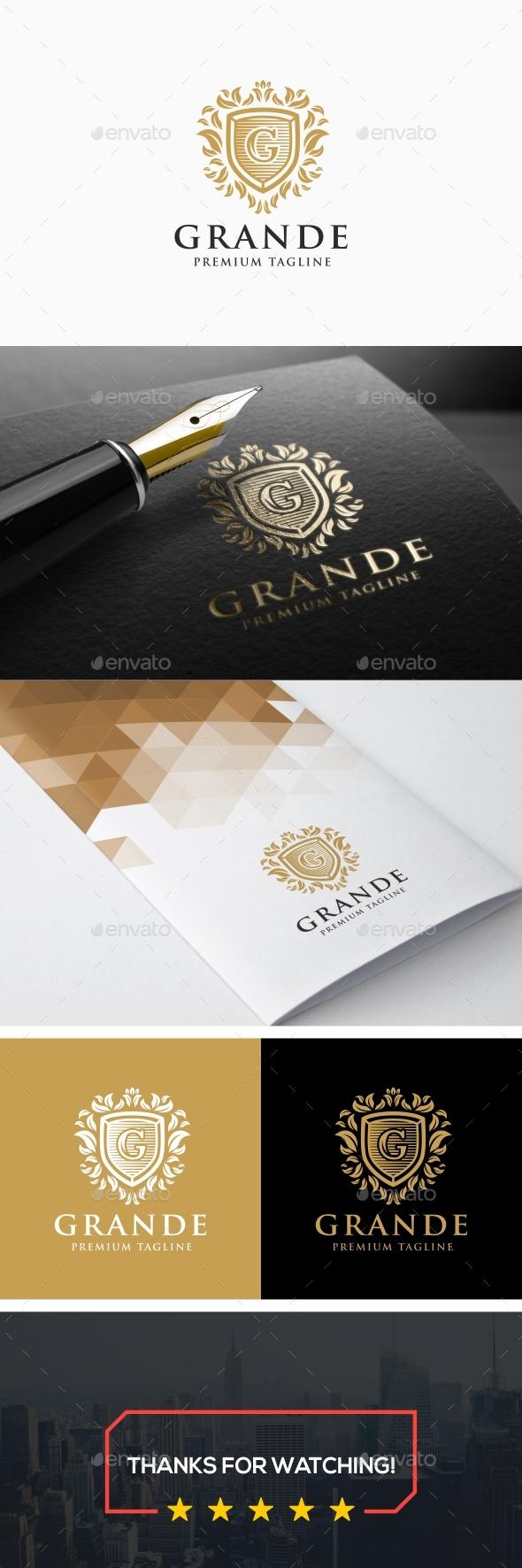 Grande - Luxurious G Letter Logo - Letters Logo Templates