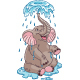 Elephant Bathing - GraphicRiver Item for Sale