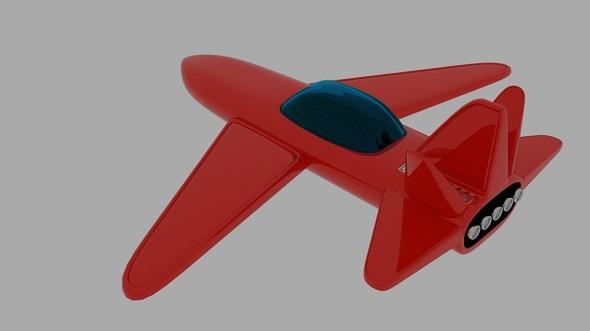 Red Sligun Space Ship - 3DOcean Item for Sale