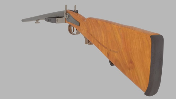 Antique Rifle - 3DOcean Item for Sale