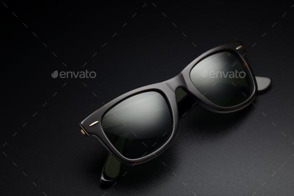 Black sunglasses isolated - Stock Photo - Images