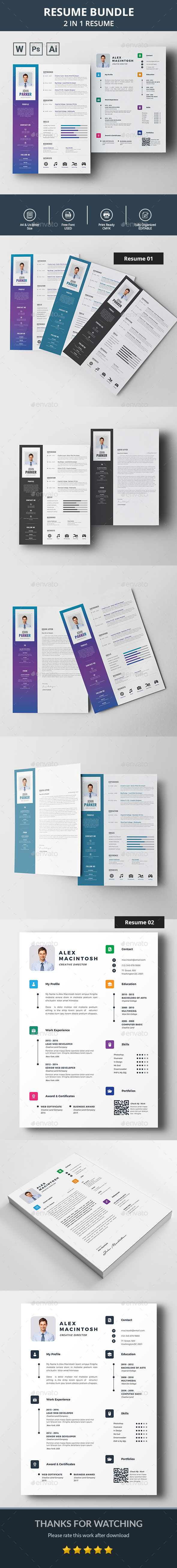 Resume / CV Bundle - Resumes Stationery