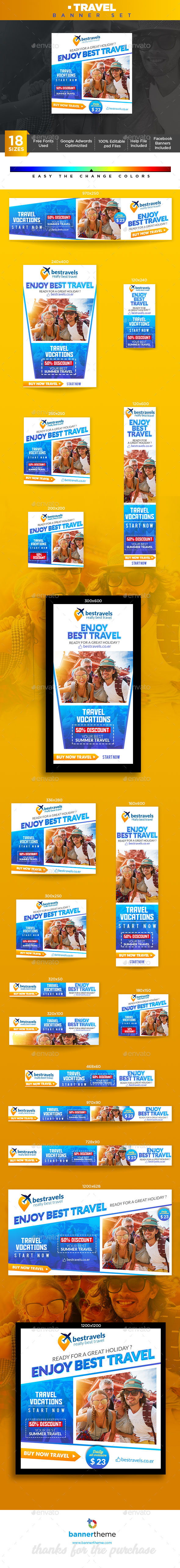Travel Banner - Banners & Ads Web Elements