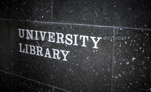 University Library Sign - Stock Photo - Images