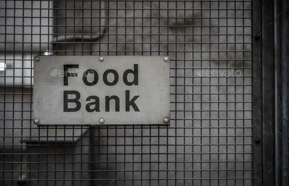 Food Bank Sign - Stock Photo - Images