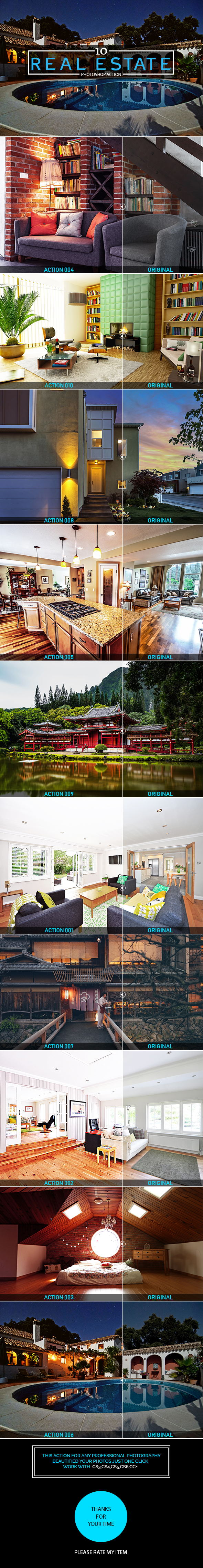 10 Real Estate Photoshop Action - Photo Effects Actions