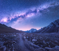 Milky Way and mountains. Space - PhotoDune Item for Sale