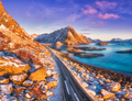 Aerial view of beautiful mountain road near the sea - PhotoDune Item for Sale