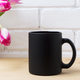 Black coffee mug mockup with magenta tulip - PhotoDune Item for Sale