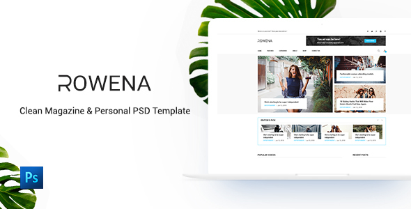 Rowena - Minimal Magazine PSD Template - Health & Beauty Retail