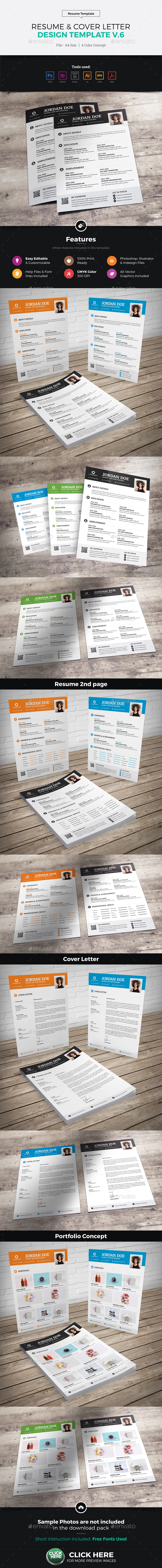 Resume & Cover Letter Design v6 - Resumes Stationery