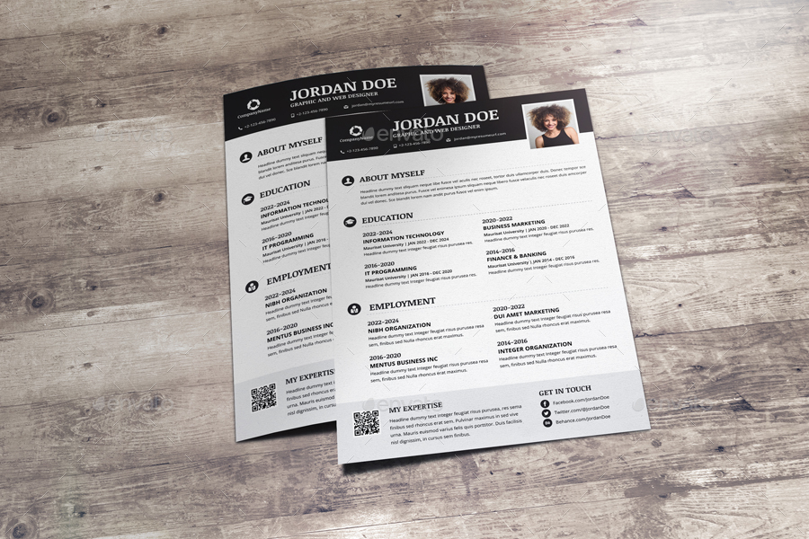 resume  u0026 cover letter design v6 by jbn