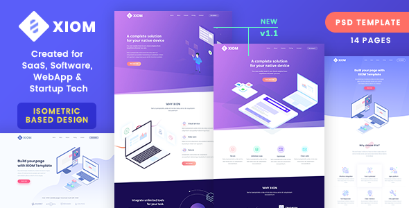 Xiom saas software webapp and startup tech psd template by softnio preview01previewg maxwellsz