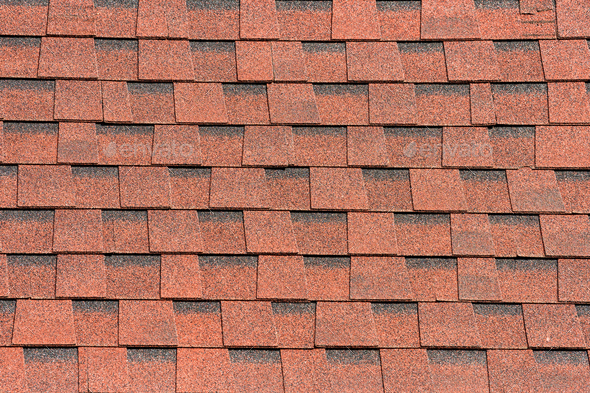 Brown shingle roof tiles pattern background - Stock Photo - Images