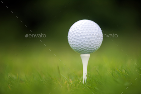 Golf Ball On Tee Stock Photo By Byrdyak Photodune