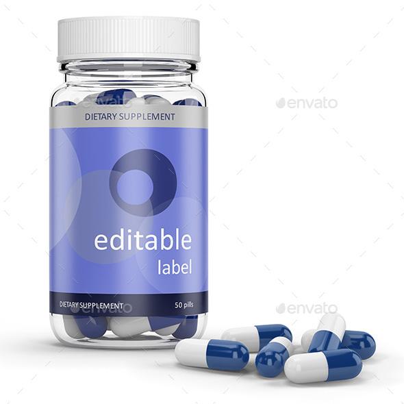 Pill bottle (Transparent & Opaque)