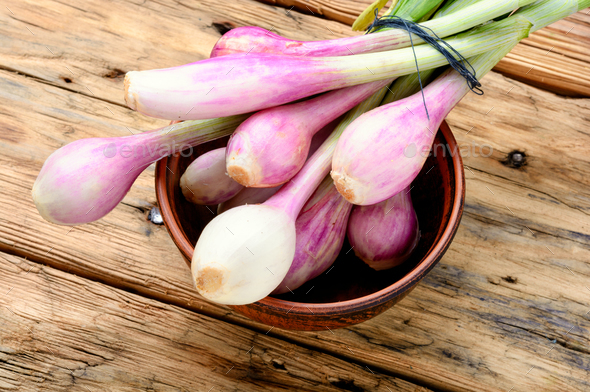 Fresh onion bulbs - Stock Photo - Images