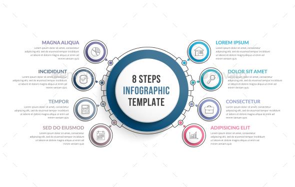 8 Steps Infographics - Infographics