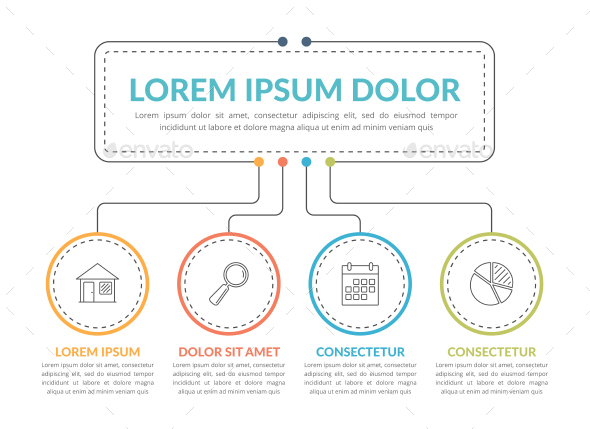 Infographic Template with Four Steps - Infographics
