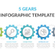 Infographic Template with 5 Gears - GraphicRiver Item for Sale