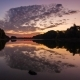 Lake in Spring at Dawn Reflection of Clouds in Water - VideoHive Item for Sale