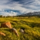Sunset in the Mountains of Altai, Mongolia. Meadow with Edelweisses - VideoHive Item for Sale