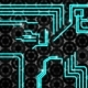 Abstract Technologic Background, Circuit Board Tracks Sparks - VideoHive Item for Sale