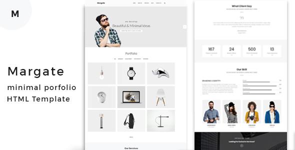 Margate - Minimal Portfolio HTML Template - Portfolio Creative