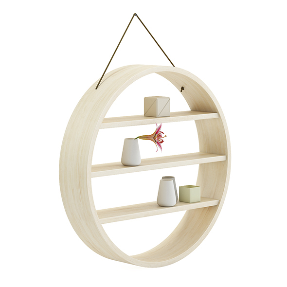 Circle Shaped Wall Shelf 3D Model - 3DOcean Item for Sale