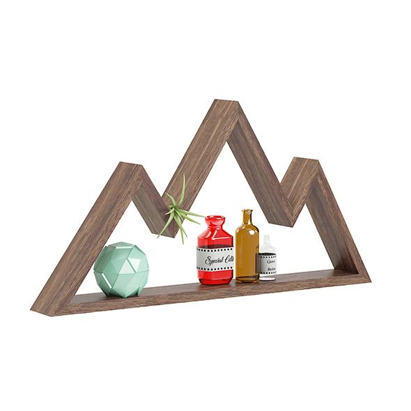 Mountain Shaped Wall Shelf 3D Model - 3DOcean Item for Sale