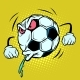 Spitting, Fan Reaction. Football Soccer Ball