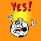 Yes Happy Fan. Football Soccer Ball. Funny