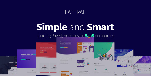 Image of Lateral - Creative SaaS landing page template