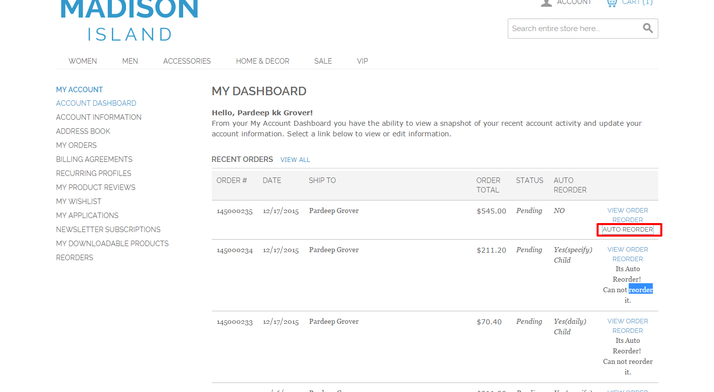 auto re order products magento extension by inc softprodigy codecanyon